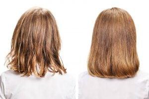 damaged and healthy hair | Kintsugi